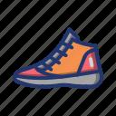 apparel, ball, basket, basketball, footwear, game, shoes
