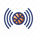 ball, basket, basketball, game, live, sport, watch icon