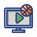 ball, basket, basketball, game, sport, watch icon