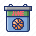 basket, basketball, calender, game, match, schedule, sport icon