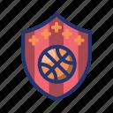 ball, basket, basketball, emblem, game, sport, team icon