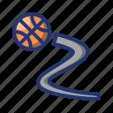 ball, basket, basketball, dribble, game, sport icon
