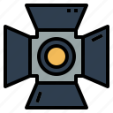 gym, lamp, lgiht, spotlight icon