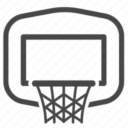 backboard, basket, basketball, basketball hoop, hoop, sport icon