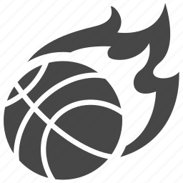 ball, basketball, fire, nba, sport icon