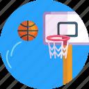 sports, net, basketball ring, basketball ball, basketball, ball