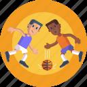 sports, player dribbling, basketball, dribbling, players, ball