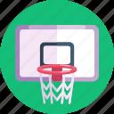 basketball ring, basketball, net, sports