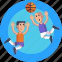 sports, competition, basketball, basketball players, players, ball