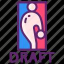 basketball, drafts, nba icon