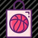 bag, basketball, merchandise, team icon