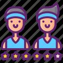 basketball, players, rankings, team icon