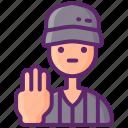rule, seconds, three, violation icon