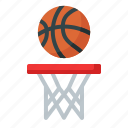 hoop, ball, basketball, sport, game, competition