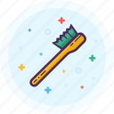 bath, bathroom, brush, clean, sink, water icon