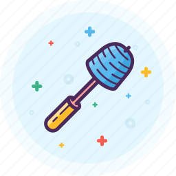 bathroom, brush, clean, plates, toilet, water icon