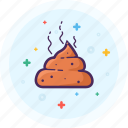 bathroom, crap, poo, poop, restroom, shit, waste icon