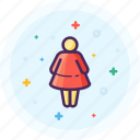 avatar, female, gender, lady, profile, restroom, wc icon