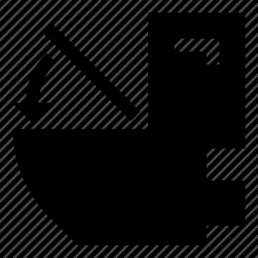 arrow, close, position, seat, toilet, wc icon