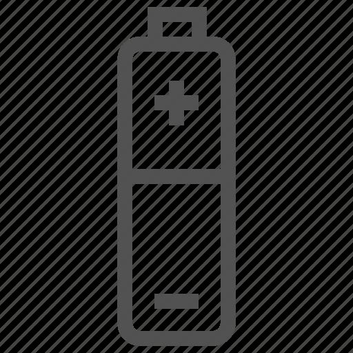 aa, battery, charge, energy icon