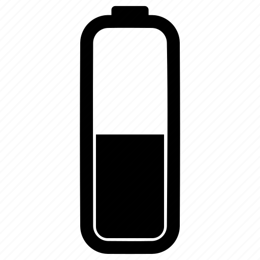 Battery Charging Electric Percent Verticle Icon