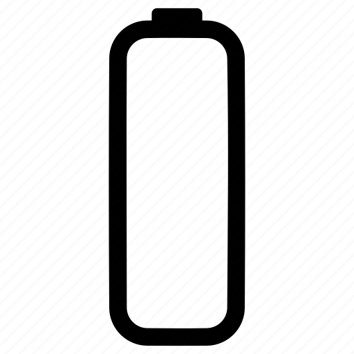 Battery, verticle, empty, charge, power icon