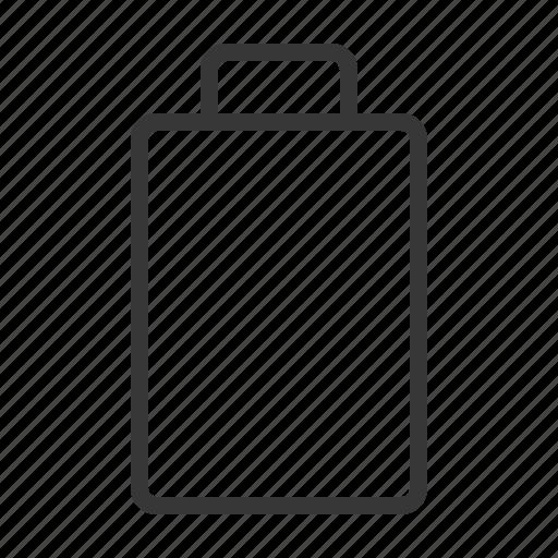 battery, empty, energy, zero icon