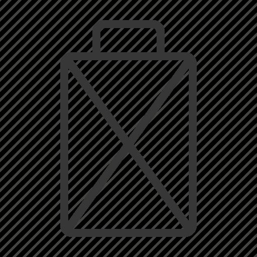 battery, empty, error, problem icon
