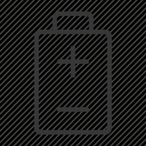 Battery, energy, minus, plus, status icon - Download on Iconfinder