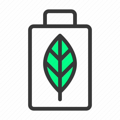 Battery, green energy, recycle, save icon - Download on Iconfinder