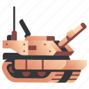 armored, army, cannon, military, tank, vehicle, war icon