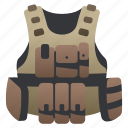 bullet, bulletproof, military, police, proof, uniform, vest icon