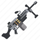 firearm, gun, machine, military, rifle, war, weapon icon