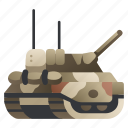 armed, army, cannon, military, tank, vehicle, war icon
