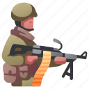 army, commando, gun, infantry, military, soldier, weapon