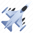 aircraft, airplane, fighter, force, jet, military, plane icon
