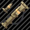 anti, army, bazooka, launcher, military, rocket, weapon icon