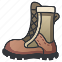 foot, leather, soldier, boot, military, clothing icon