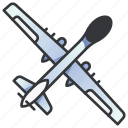 air, aircraft, drone, force, military, spy, war icon