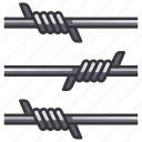 wire, fence, prison, wall, protection, military, barrier icon