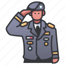 captain, commander, general, military, officer, soldier, uniform icon