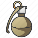 army, explosive, grenade, military, war, weapon icon