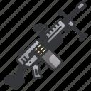 army, firearm, gun, machine, military, rifle, war icon