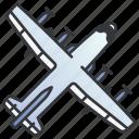 air, aircraft, armed, force, gunship, military, war icon
