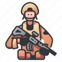 army, infantry, military, soldier, war, warrior, weapon icon