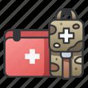 aid, first, health, kit, medic, medical, medicine icon