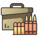 ammo, ammunition, bullet, gun, military, weapon icon