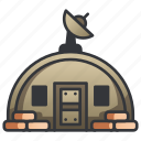 bunker, defense, fortress, military, shelter, wall, war icon