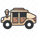 army, car, jeep, military, transport, vehicle, war icon