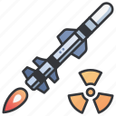 atomic, danger, missile, nuclear, technology, war, weapon icon